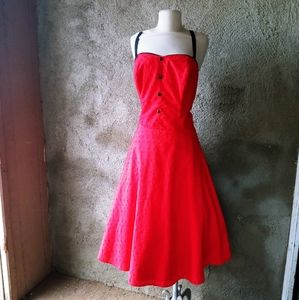 Stop Staring Red Rockabilly dress